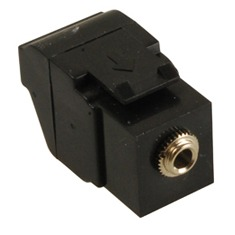 ICC Cabling Products: IC107SAPBK 3.5 mm Keystone Jack