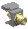 ICC IC107B5GGY Grey Gold Plated F Connector Keystone Jack