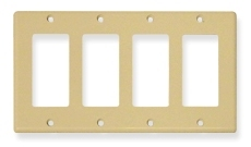 ICC Cabling Products: IC107DFQIV 4 Gang Decora Faceplate
