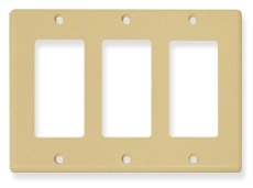 ICC Cabling Products: IC107DFTIV 3 Gang Decora Faceplate