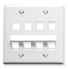ICC Cabling Products: IC107AF8WH Angled Wall Plate