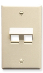 ICC Cabling Products: IC107DA2AL Almond 2 Port Keystone Wall Plate