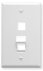 ICC Cabling Products: IC107AF2WH 2 Port Angled Bottom Wall Plate