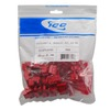 ICC Cabling Products: IC107L6CRD Red EZ Cat 6 Keystone Jack 25 Pack