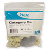 ICC Cabling Products: IC107E5CIV Ivory EZ Cat5e Keystone Jack 25 Pack