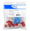 ICC Cabling Products: IC107F5CRD Red HD Cat5e Keystone Jack 25 Pack