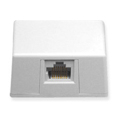 ICC Cabling Products: IC635DS4WH White 8P4C Keyed Surface Mount Jack