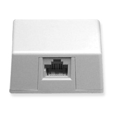ICC Cabling Products: IC635DS8WH White 8P8C Keyed Surface Mount Jack