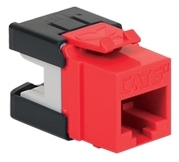 ICC Cabling Products: IC1078GARD Red Cat 6A HD Keystone Jack