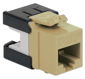 ICC Cabling Products: IC1078GAIV Ivory Cat 6A HD Keystone Jack