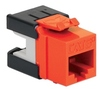ICC Cabling Products: IC1078GAOR Orange Cat 6A HD Keystone Jack