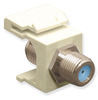 ICC IC107B9FAL Almond Nickel Plated 3 GHz F Connector Keystone Jack
