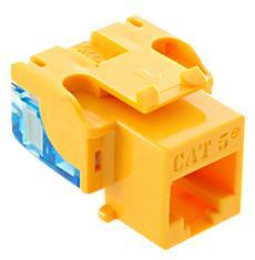 ICC Cabling Products: IC1078E5YL Cat5e Keystone Jack
