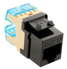 ICC Cabling Products: IC1078F5BK HD Cat5e Keystone Jack