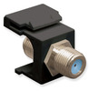 ICC IC107B9FBK Black Nickel Plated 3 GHz F Connector Keystone Jack