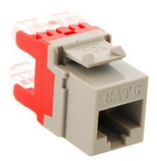 ICC Cabling Products: IC1078F6GY HD Cat 6 Keystone Jack