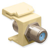 ICC IC107B9FIV Ivory Nickel Plated 3 GHz F Connector Keystone Jack