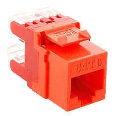 ICC Cabling Products: IC1078F6OR HD Cat 6 Keystone Jack