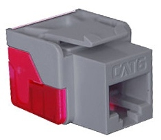 ICC Cabling Products: IC1078L6GY Cat 6 Keystone Jack