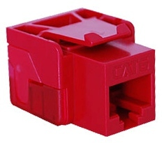 ICC Cabling Products: IC1078L6RD Red Cat 6 Keystone Jack