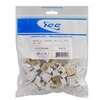 ICC Cabling Products: IC1076VCWH White EZ RJ-11 Voice Keystone Jack 25 Pack