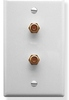 ICC Cabling Products: IC630EGGWH (2) CATV F-Type Integrated Wall Plate White