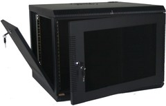 Quest Manufacturing: WM2019-07-02 7 RMS Black Wall Mount Cabinet Enclosure