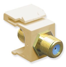 ICC Cabling Products: IC107B9GIV F Connector Keystone Jack