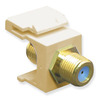 ICC IC107B9GIV Ivory Gold Plated 3 GHz F Connector Keystone Jack