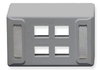 ICC: IC108UF4GY Gray Universal 4 Port Keystone Furniture Faceplate