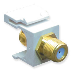 ICC Cabling Products: IC107B9GWH F Connector Keystone Jack