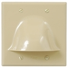 ICC Cabling Products: IC640BDSIV Ivory Bulk Cable Wall Plate