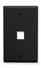 ICC Cabling Products: IC107F01BK Keystone Wall Plate