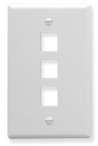 ICC Cabling Products: IC107F03WH 3 Port Keystone Wall Plate