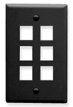 ICC Cabling Products: IC107F06BK 6 Port Keystone Wall Plate