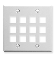 ICC Cabling Products: IC107F12WH 12 Port Keystone Wall Plate