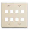 ICC Cabling Products: IC107FD8AL 8 Port Keystone Wall Plate