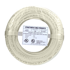 22/4 Solid Alarm Wire | 500ft Coil Pack | Beige & UL Listed & CMR ...