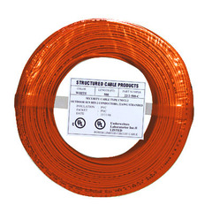 22/4 Solid Alarm Wire | 500ft Coil Pack | Orange & UL Listed & CMR ...