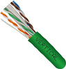 Green Cat6a UTP Cable