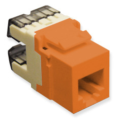 ICC Cabling Products: IC1076F0OR HD Voice RJ11 Keystone Jack