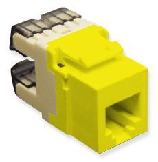 ICC Cabling Products: IC1076F0YL HD Voice RJ11 Keystone Jack