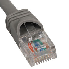 ICC Cabling Products: ICPCSJ01GY Grey 1 ft Cat5e Patch Cable