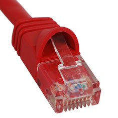 ICC Cabling Products: ICPCSJ03RD Red 3 ft Cat5e Patch Cable