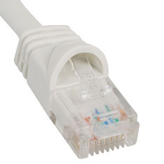 ICC Cabling Products: ICPCSJ03WH White 3 ft Cat5e Patch Cable