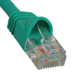 ICC Cabling Products: ICPCSJ07GN Green 7 ft Cat5e Patch Cable
