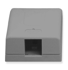 ICC Cabling Products: IC107SB1GY 1 Port Surface Mount Box