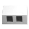 ICC Cabling Products: IC107SB2WH 2 Port Surface Mount Box