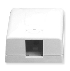ICC Cabling Products: IC107SB1WH 1 Port Surface Mount Box