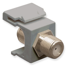 ICC Cabling Products: IC107B5FGY F Connector Keystone Jack